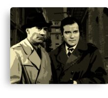 Kirk and Picard Detective Agency Canvas Print