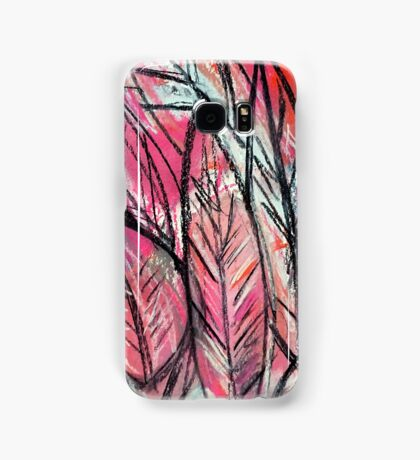 Disco Leaves Charcoal and Pastel Drawing Samsung Galaxy Case/Skin