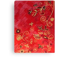 Gold on Red 3 of 3 Canvas Print