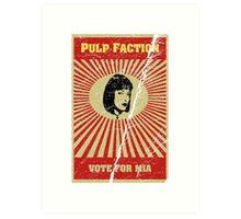 Pulp Faction - Mia Art Print