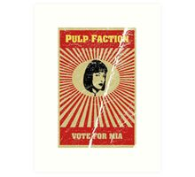 Pulp Faction - Mia Art Print