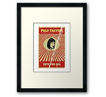 Pulp Faction - Mia Framed Print