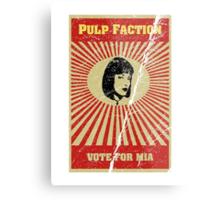 Pulp Faction - Mia Metal Print