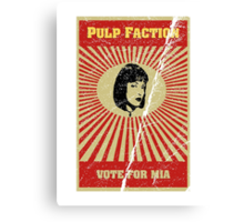 Pulp Faction - Mia Canvas Print
