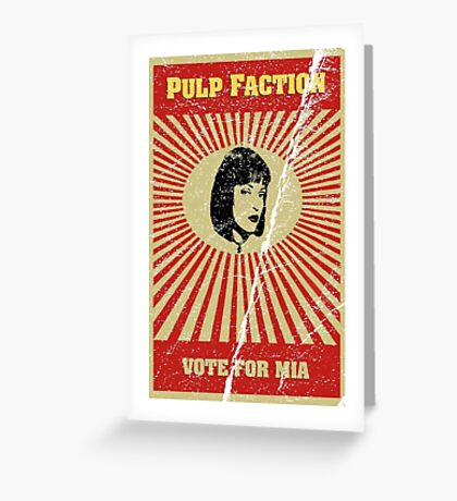 Pulp Faction - Mia Greeting Card