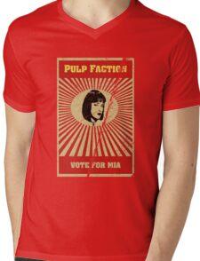 Pulp Faction - Mia Mens V-Neck T-Shirt