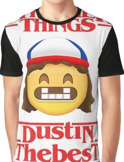 Stranger Things Poster Dustin Emoji The Best Graphic T-Shirt
