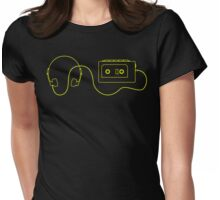 Retro Cassette Player T Shirt Womens Fitted T-Shirt
