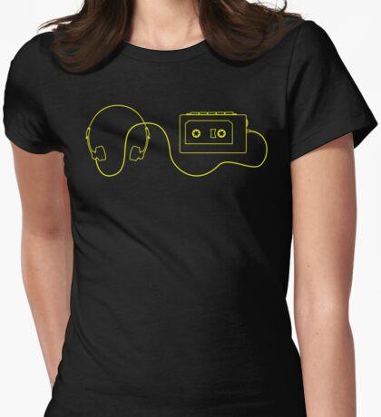 Retro Cassette Player T Shirt Womens Fitted T-Shirt