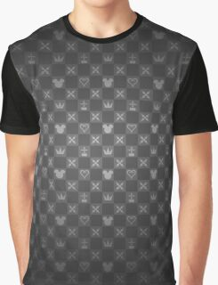 Kingdom Hearts pattern (grey) Graphic T-Shirt