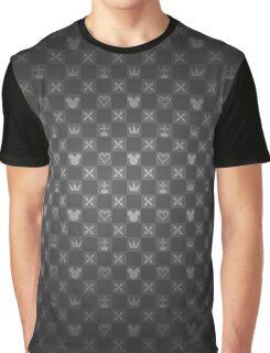 Kingdom Hearts pattern (grey) Graphic T-Shirt