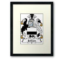 Jordan Coat of Arms (Irish) Framed Print
