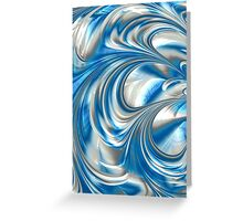 Nickel Blue Abstract Greeting Card