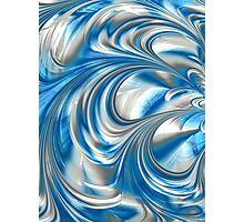 Nickel Blue Abstract Photographic Print