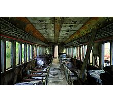 Internal- Abandoned Train Photographic Print