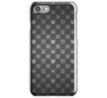 Kingdom Hearts pattern (grey) iPhone Case/Skin