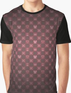 Kingdom Hearts pattern (red) Graphic T-Shirt