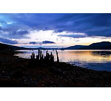 Strachur at sunset Photographic Print