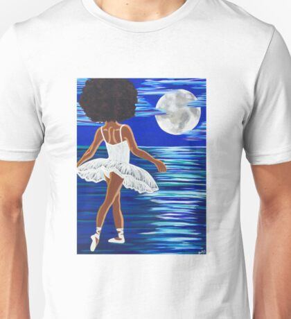 """Walking on Water"" Limited Edition Art Print - black art - black girl magic - Afro centric - African American Art  Unisex T-Shirt"