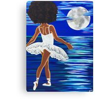 """Walking on Water"" Limited Edition Art Print - black art - black girl magic - Afro centric - African American Art  Canvas Print"