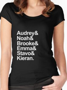 Scream Characters-- White Women's Fitted Scoop T-Shirt