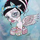 Cupcake Cutie - Day of the Dead Rockabilly Sweet Girl by Concetta Kilmer