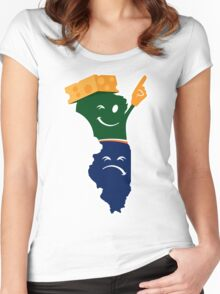 Wis-Kid on Top! Women's Fitted Scoop T-Shirt