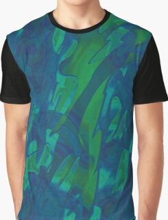 Green and blue design Graphic T-Shirt