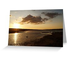 Sunset over The Fleet Greeting Card