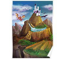 Mountain In Fantasy Land Poster