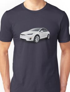 Tesla Model X luxury SUV electric car art photo print Unisex T-Shirt
