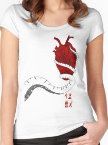 The heart of the beast Women's Fitted Scoop T-Shirt