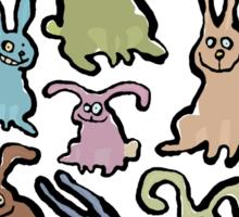 13 bunnies Sticker