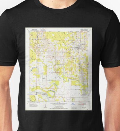 USGS TOPO Map Arkansas AR Foreman 258472 1951 24000 Unisex T-Shirt