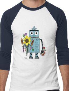 Lina The Robot Men's Baseball ¾ T-Shirt
