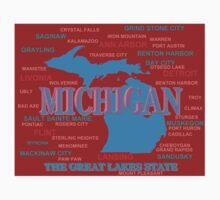 Michigan Map  Kids Tee