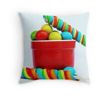 Lolly pops Throw Pillow