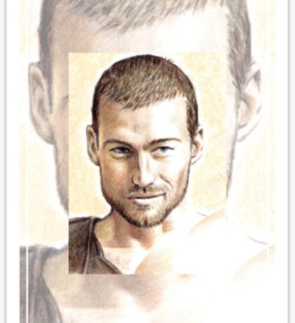 Andy Whitfield miniature Sticker