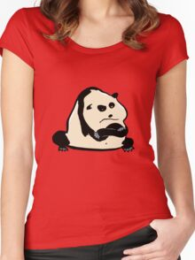 panda bear Women's Fitted Scoop T-Shirt