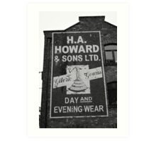 Old 1940s Advertising Sign Art Print