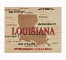 Louisiana Map  Kids Tee