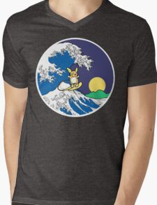 The Great Wave of Alola (Night) Mens V-Neck T-Shirt