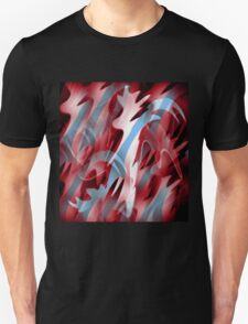 Red and blue smoke Unisex T-Shirt