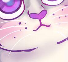Purple Eyed Kitty Sticker