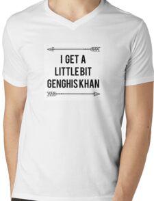 Genghis Khan Mens V-Neck T-Shirt