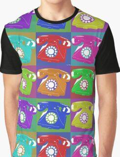 Ring Ring Ring Multi Telephone Graphic T-Shirt