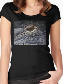 Creapy Eye Women's Fitted Scoop T-Shirt