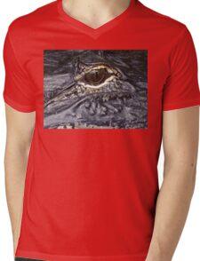 Creapy Eye Mens V-Neck T-Shirt