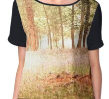 woods in bluebells  Chiffon Top