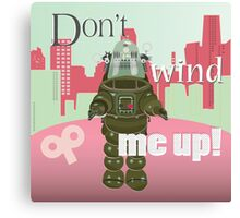 Don't wind me up (square - pink/green tones) Canvas Print